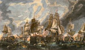 Battle of Trafalgar (Restrike Etching) by William Clarkson Stanfield
