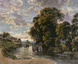 Way Through the Stream (Restrike Etching) by Aumonies