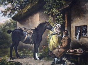 Outside a Country Alehouse (Restrike Etching) by Anonymous