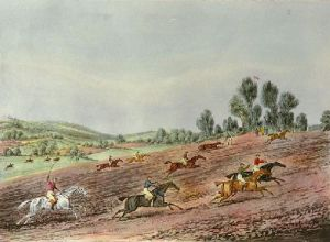 St Albans G Steeplechase - Pl. III (Restrike Etching) by James Pollard