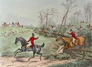 Getting Away (Restrike Etching) by Henry Alken