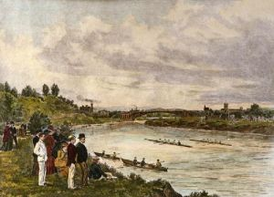Rowing at Cheltenham (Restrike Etching) by Anonymous