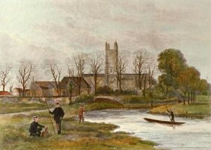 Winchester College Watermeads (Restrike Etching) by Anonymous