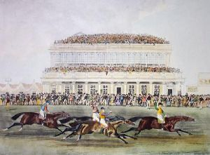 Race for the Gold Cup Ascot (Restrike Etching) by James Pollard