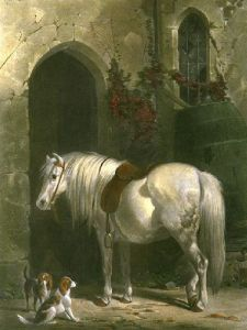 Keepers Pony (Restrike Etching) by Henry Barraud