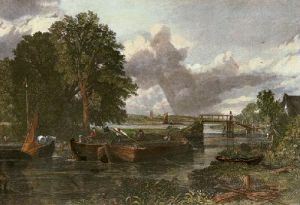 View on the River Stour near Dedham (Restrike Etching) by John Constable