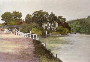 Boulters Lock (Restrike Etching) by Anonymous