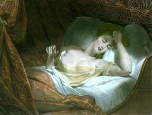 Dreaming (Restrike Etching) by Claude-Marie Dubufe