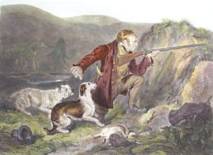 Keeper Going Round His Traps (Restrike Etching) by George Henry Hancock
