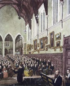Charterhouse, Saturday Evening in Hall (Restrike Etching) by A.H. Wardlow