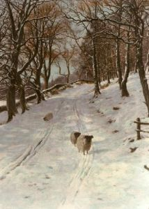 Sunlight and Shadow (Restrike Etching) by Joseph Farquharson