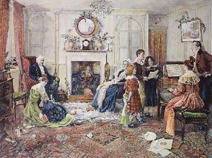 Christmas Carols (Restrike Etching) by Walter Dendy Sadler