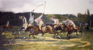 Polo (Restrike Etching) by John Charles Dollman