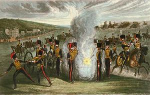 Royal Horse Artillery (Restrike Etching) by T H Jones