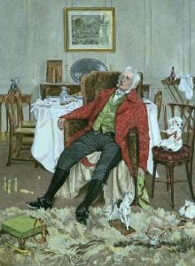 Grandfather (Restrike Etching) by Walter Dendy Sadler
