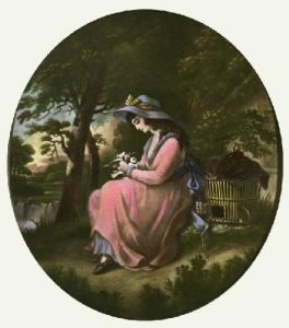 Love's Messenger (Restrike Etching) by George Morland