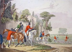 Bachelors Hall - Plate 1 (Restrike Etching) by Francis Calcraft Turner