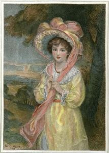 Easter Bonnet (Restrike Etching) by Walton
