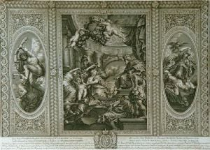 Whitehall Ceilings Pl.III (Restrike Etching) by Peter Paul Rubens