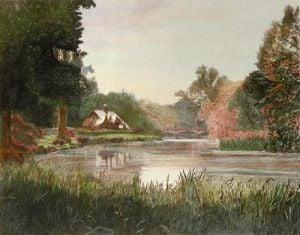 Thames at Nuneham (Restrike Etching) by F Hunter