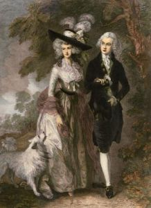 Morning Walk (Restrike Etching) by Thomas Gainsborough