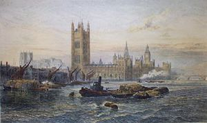 Westminster (Restrike Etching) by George Vicat Cole