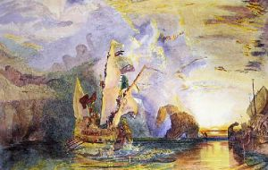 Ulysses Deriding Polyphemus (Restrike Etching) by Joseph Mallord William Turner