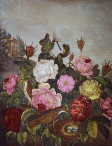 Roses (Restrike Etching) by Robert John Thornton