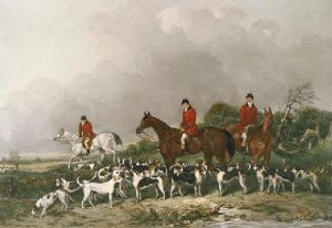 Old Berkshire Hunt (Restrike Etching) by Mervyn Goode