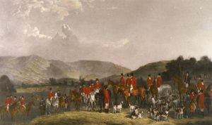 Wynnstay Hunt (Restrike Etching) by Henry Calvert