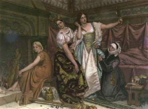 Cinderella (Restrike Etching) by Joseph Henri Francois Van Lerius