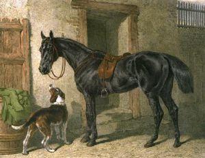 Hunter (Restrike Etching) by John Frederick Herring