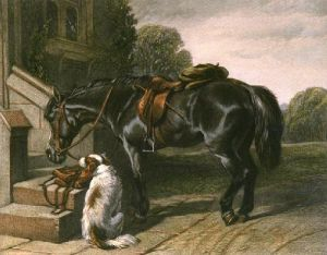 Postman's Horse (Restrike Etching) by John Frederick Herring