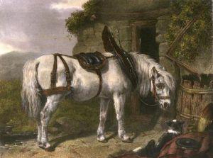 Scotch Cart Horse (Restrike Etching) by John Frederick Herring