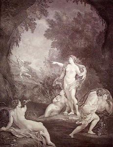 Diana & Acteon (Restrike Etching) by Carlo Maratti