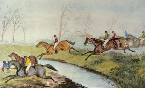 Liverpool Grand Steeplechase Pl.I (Restrike Etching) by Laporte