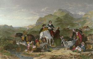 Departing of the Highland Bride (Restrike Etching) by Jacob Thompson