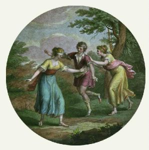 Blind Man's Buff (Restrike Etching) by Angelica Kauffmann