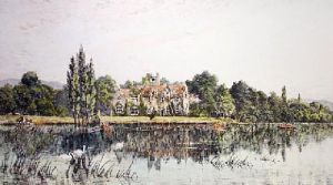 Bisham Abbey (Restrike Etching) by T.C. Farrer