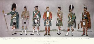 51st Highland Volunteers, The (Restrike Etching) by Capt DG Mowatt