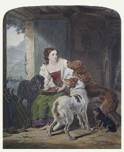 The Keeper's Daughter (Restrike Etching) by William Powell Frith
