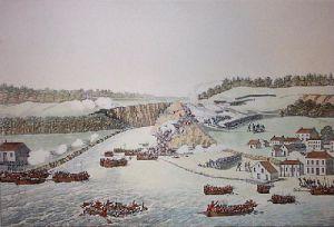 Battle of Queenston (Restrike Etching) by Major Dennis