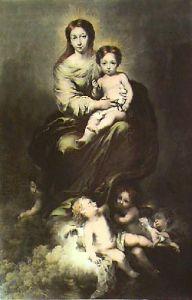 Madonna and Child (Restrike Etching) by Bartolomé Esteban Murillo