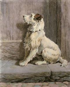Prodigal (Dog) (Restrike Etching) by Herbert Thomas Dicksee