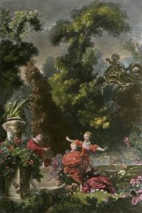 The Pursuit (Restrike Etching) by Jean-Honoré Fragonard