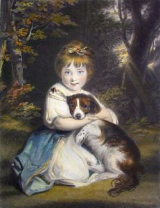 Miss Bowles (Restrike Etching) by Sir Joshua Reynolds