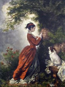 Souvenir (Restrike Etching) by Jean-Honoré Fragonard