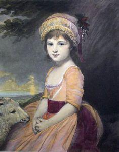 Miss Martindale (Restrike Etching) by George Romney