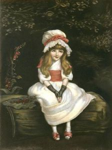 Cherry Ripe (Restrike Etching) by Sir John Everett Millais