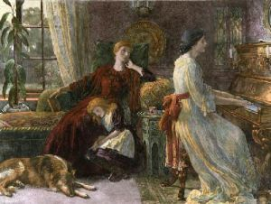 Memories (Restrike Etching) by Sir Frank Dicksee